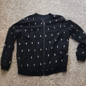 Mossimo black bomber jacket size large